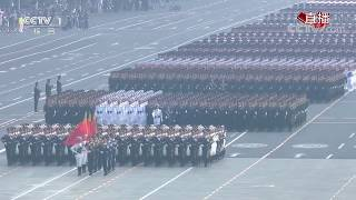 Fifteen military units march in formation for National Day parade| CCTV English