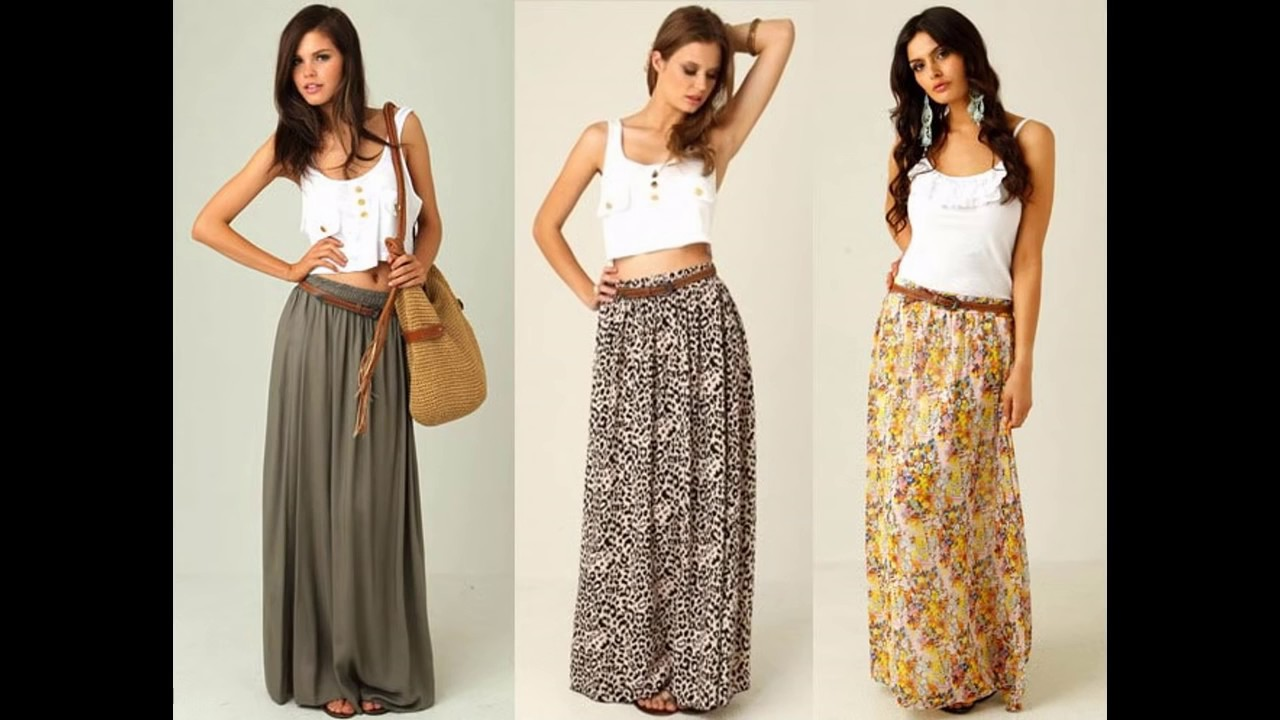 7bfb35ba363 Outfits con faldas largas - YouTube