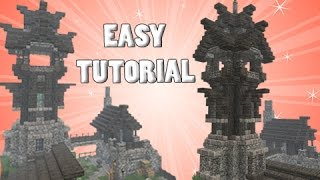 Minecraft: Tower & Outpost House TUTORIAL! - Part 1/2