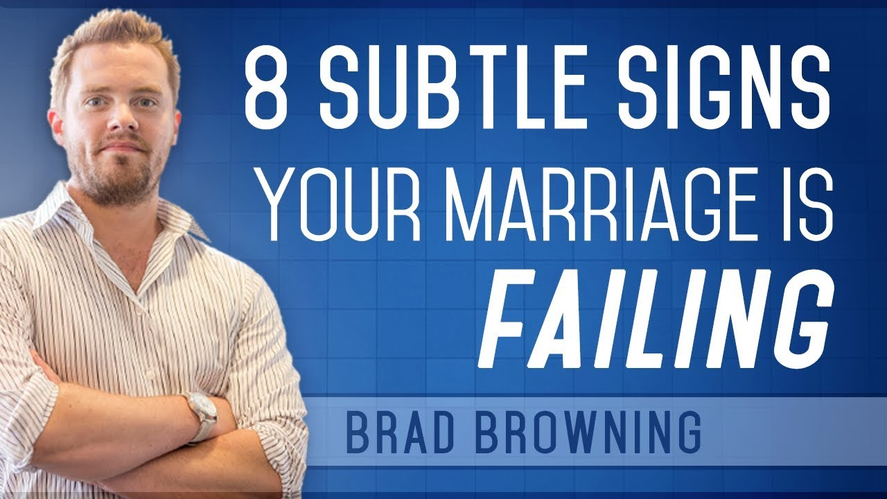 Signs that marriage is falling apart