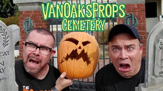 DIY Halloween Decorations | VanOaks Cemetery Home Haunt | Halloween Yard Display Walkthrough Tour