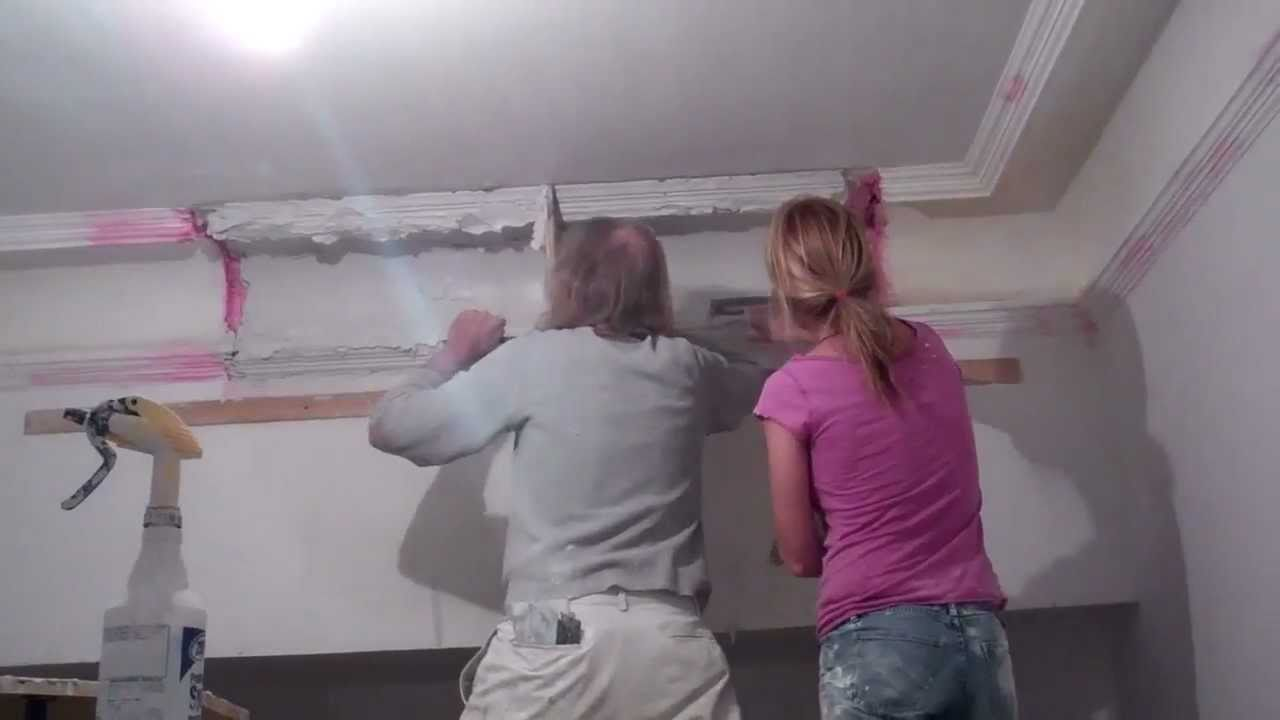 Rebuilding Plaster Moulding Youtube