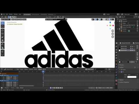 Grease Pencil Logo Animation Tutorial : Adidas Logo Animation || Blender 2.8x