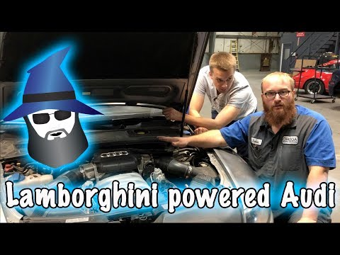 CAR WIZARD fixes a Lamborghini powered Audi S6