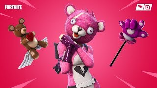 CUDDLE TEAM LEADER SKIN Glider BEAR FORCE ONE & Pickaxe CUDDLE PAW (Review) - FORTNITE