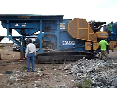 Ghana - Mobile Rock Crusher screen at quarry near Tema, Ghana