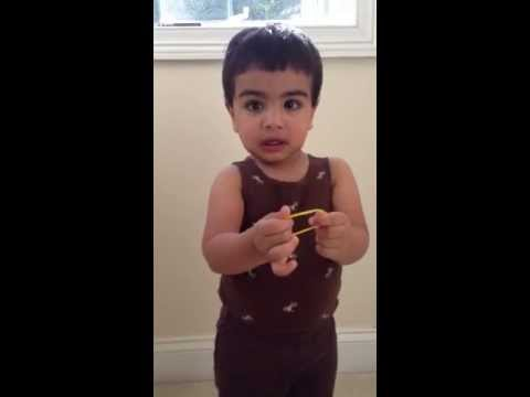 Amazing, at 17 months Aanav Jayakar knows over 50 World Capitals (skip to 41s)