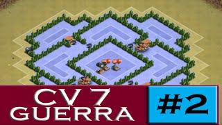 Cv7 Layout de GUERRA #2 ▬ TH7 War base - CLASH OF CLANS ▬ CLASH OF CLANS