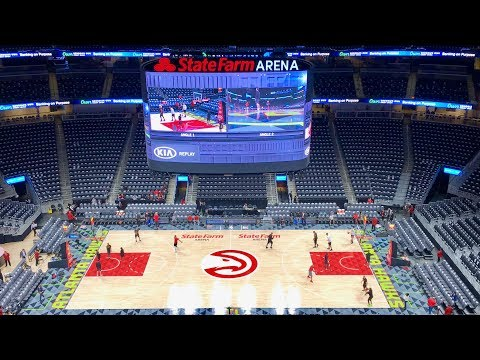 Newly Renovated State Farm Arena 360 Videoboard (Formerly Philips Arena Scoreboard)