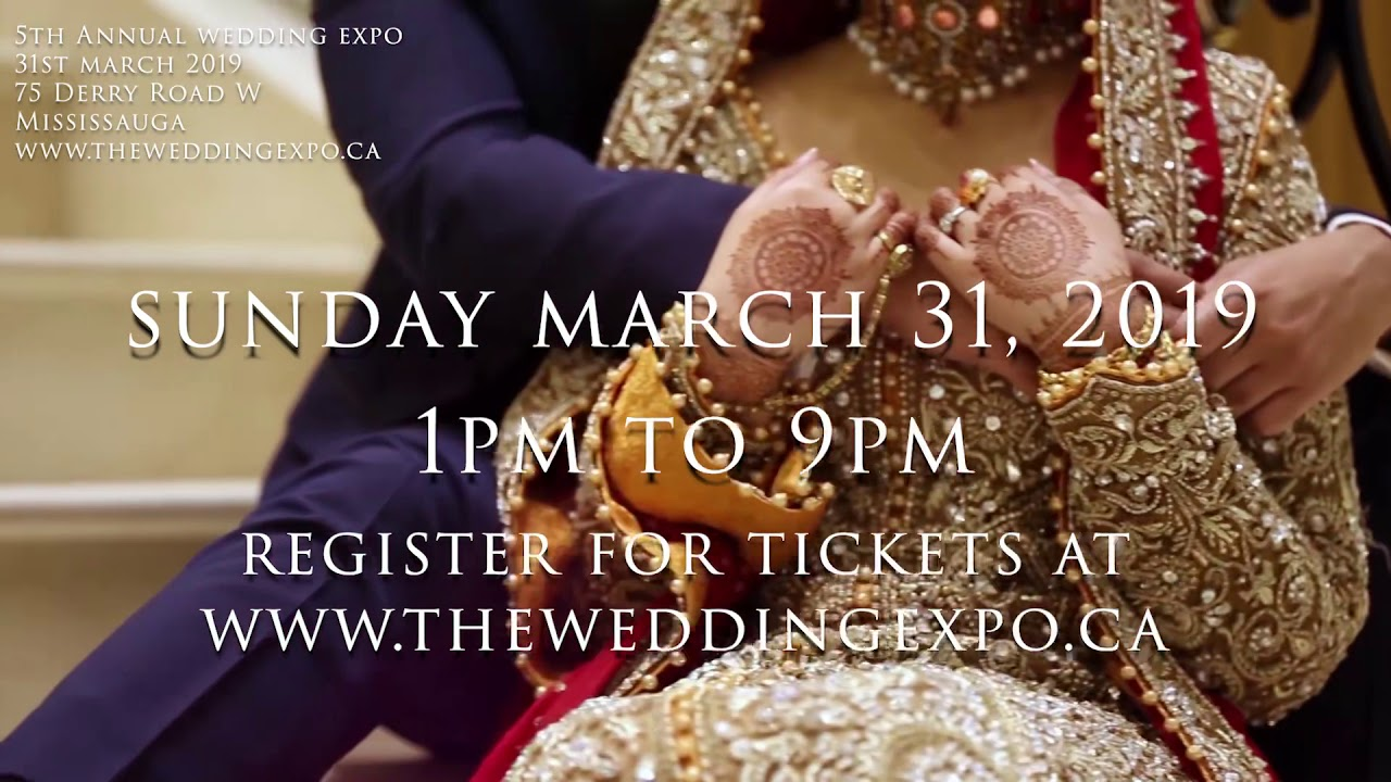 The 5th annual Wedding Expo on Sunday, March 31, 2019, at
