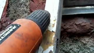 Строительство.Как снять старую краску.Removing old paint