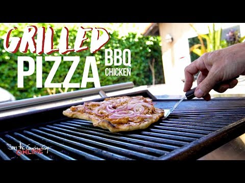 Easy Grilled BBQ Pizza Recipe | SAM THE COOKING GUY