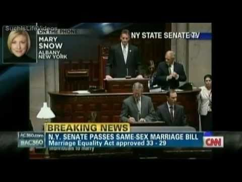 Ac360 New York State Senate Passes Same Sex Marriage Bill Youtube