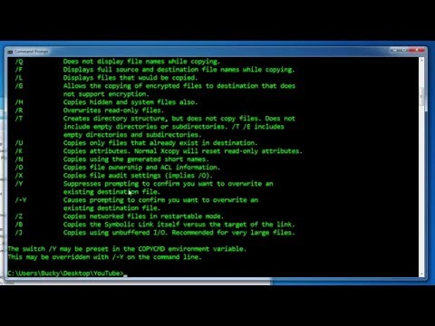 Windows Command Line Tutorial - 9 - Copying and Moving Files