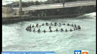Bogliasco paddle out in memory of Andy Irons