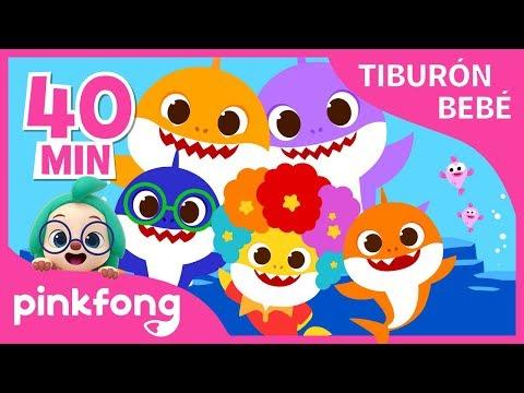 mejores-canciones-del-tiburón-bebé- -+recopilación- -pinkfong-canciones-infantiles