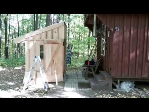 The Off Grid Guest Cabin gets a Summer Kitchen