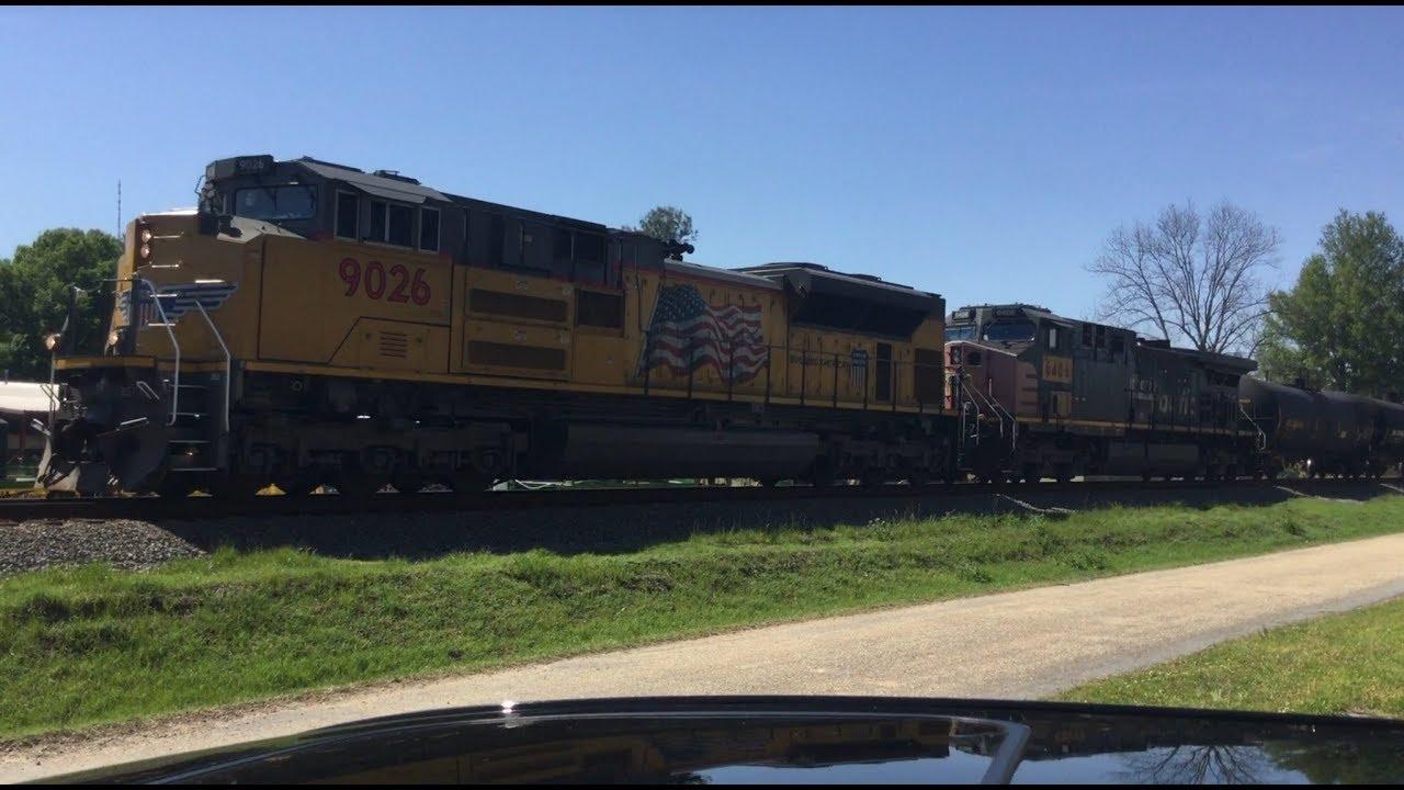 UP 9026 And UP 6406 Through McGhee,Arkansas