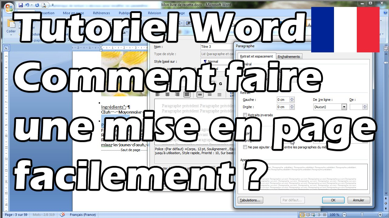 Tuto word comment faire une mise en page facilement youtube - Comment faire une chape allegee ...