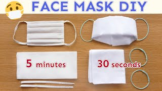 DIY FACE MASK | No Sew | Paper Wipe Mask | Handkerchief Mask | How To Make | SUPER EASY | Tutorial