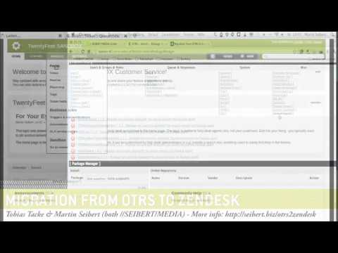 Export OTRS data and import into Zendesk automatically