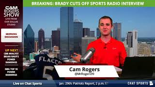 BREAKING: New England Patriots QB Tom Brady Cuts WEEI Interview Short Due to Alex Reimer's Comments