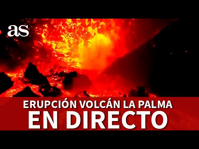 EN DIRECTO: la LAVA sale con fuerza del VOLCÁN CUMBRE VIEJA en LA PALMA | Diario AS