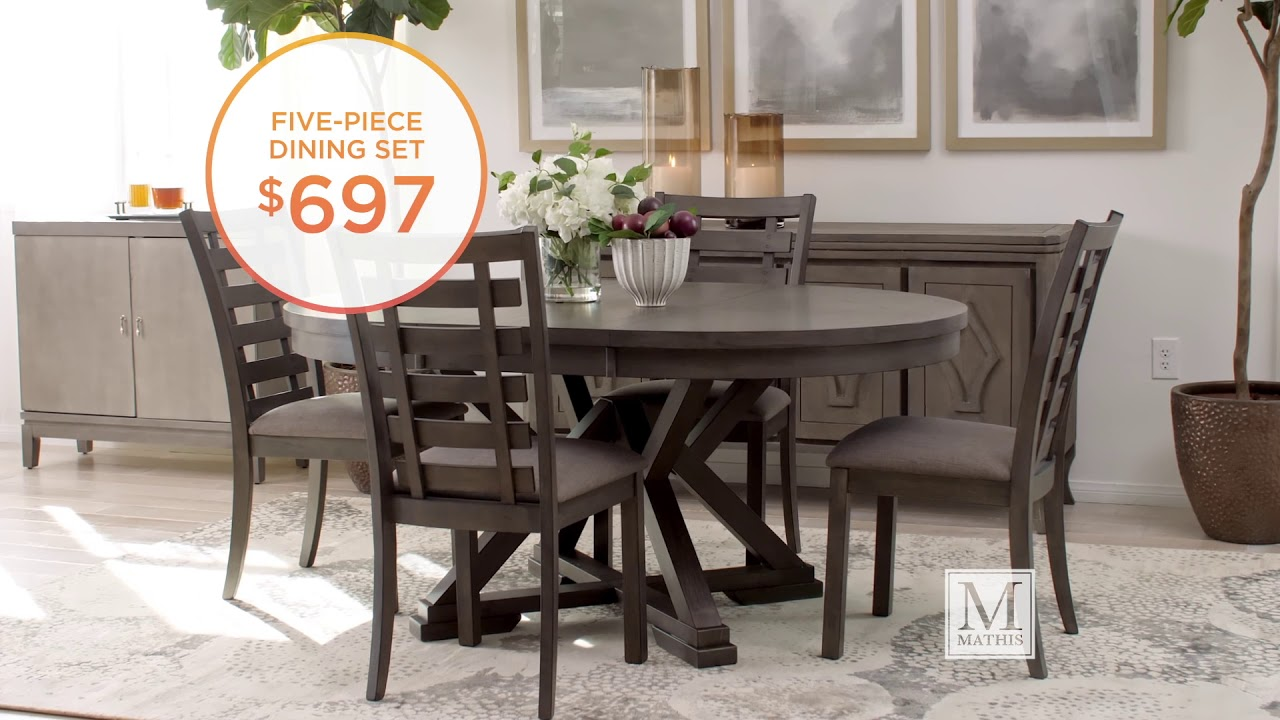 Navy And Gold Dining Room, Summer Savings On Dining Sets Www Mathisbrothers Com Youtube