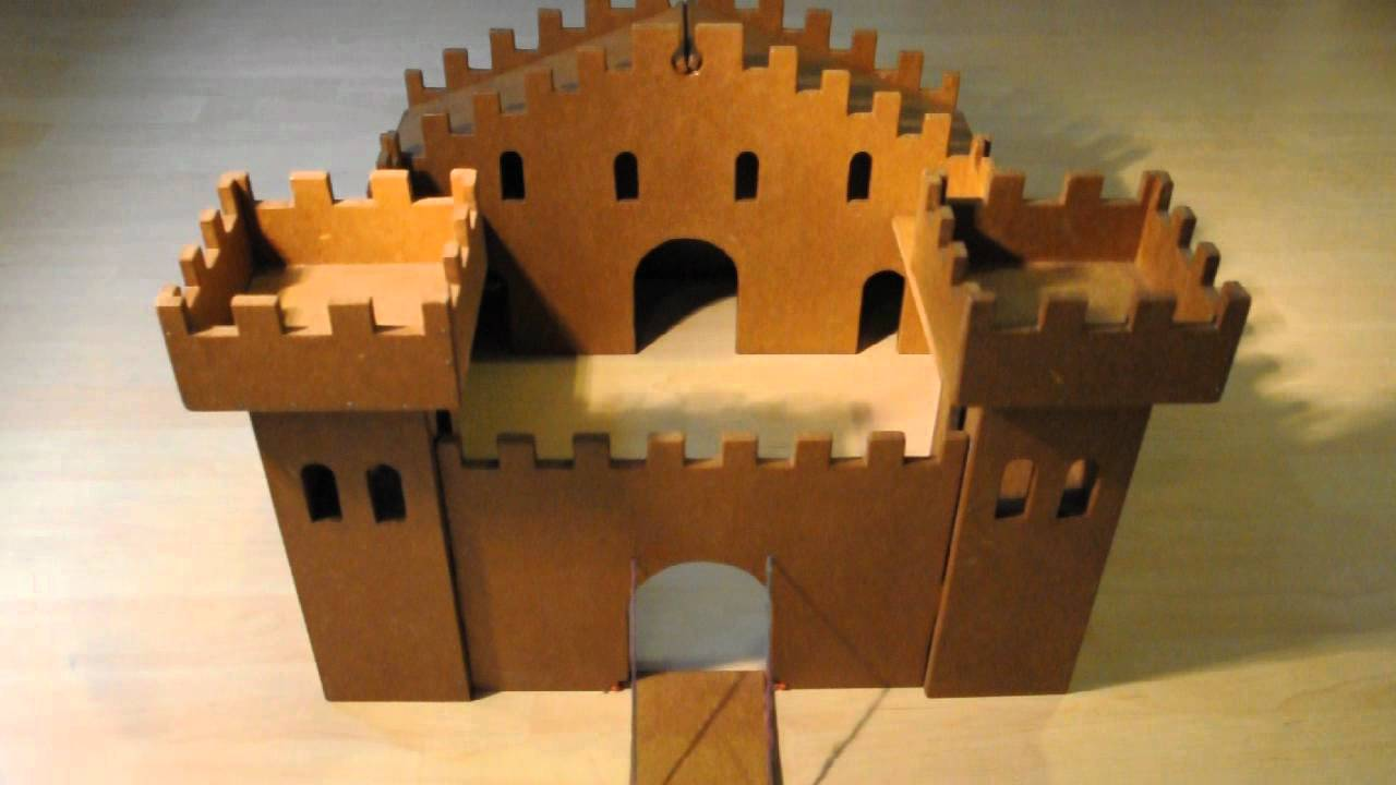 wooden toy castle - YouTube