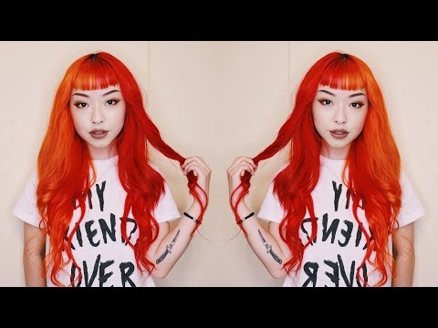 Half Orange Half Red Hair Tutorial---Olivya Nora