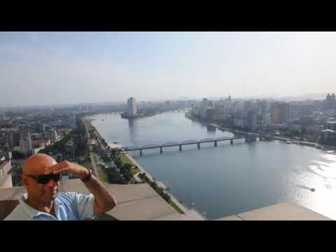 North Korea Pyongyang seen from the Juche Tower - Panoramic view