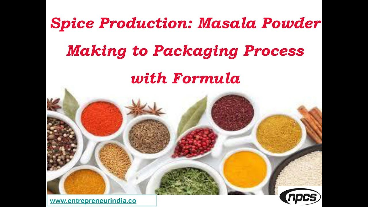 Production factory flavoring seasonings