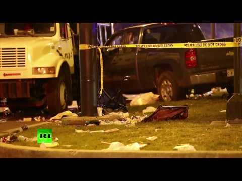 Dozens injured after truck plows into crowd in New Orleans