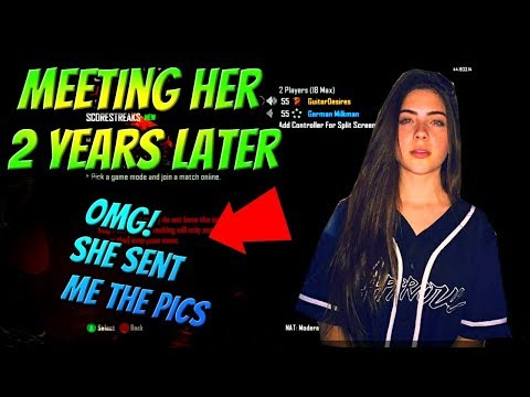Black Ops 2 Meeting Cute Girl 2 Years Later! (She Sent Me Pics!) Live Reaction!