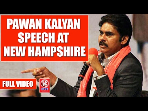 Pawan Kalyan Speech At New Hampshire | Jana Sena Party Meet | Full Video | USA | V6 News