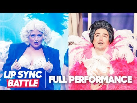"Lauren Ash's ""Express Yourself"" vs. Ben Feldman's ""It's All Coming Back to Me Now"" | Lip Sync Battle"