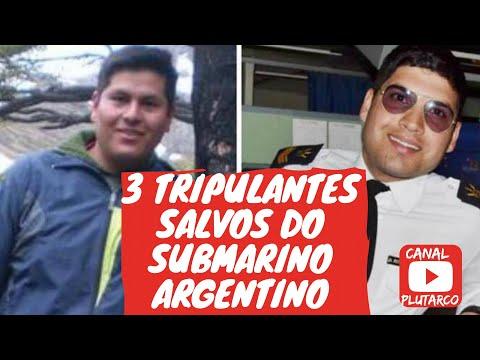 OS 3 TRIPULANTES SALVOS DO SUBMARINO ARGENTINO ARA SAN JUAN