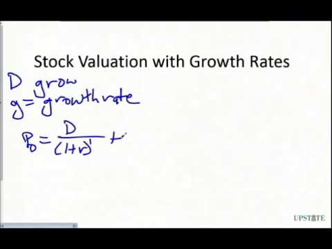Stock Valuation: Discount Dividend and Gordon Growth