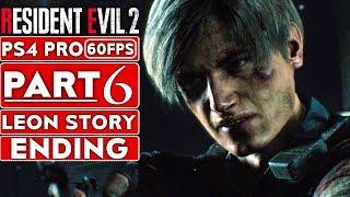 RESIDENT EVIL 2 REMAKE Leon Ending Gameplay Walkthrough Part 6 [1080p HD 60FPS PS4] - No Commentary