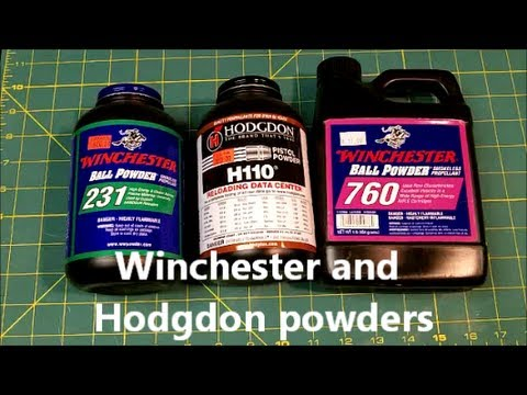Some Winchester & Hodgdon reloading powders are the same propellant
