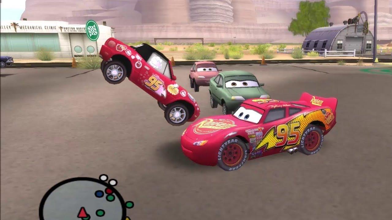 Disney Pixars Cars Movie Game - Crash Mcqueen 324 - Mia Hopscotch