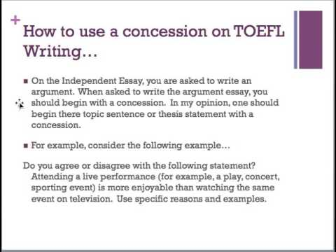 concessions for toefl independent essays. Resume Example. Resume CV Cover Letter