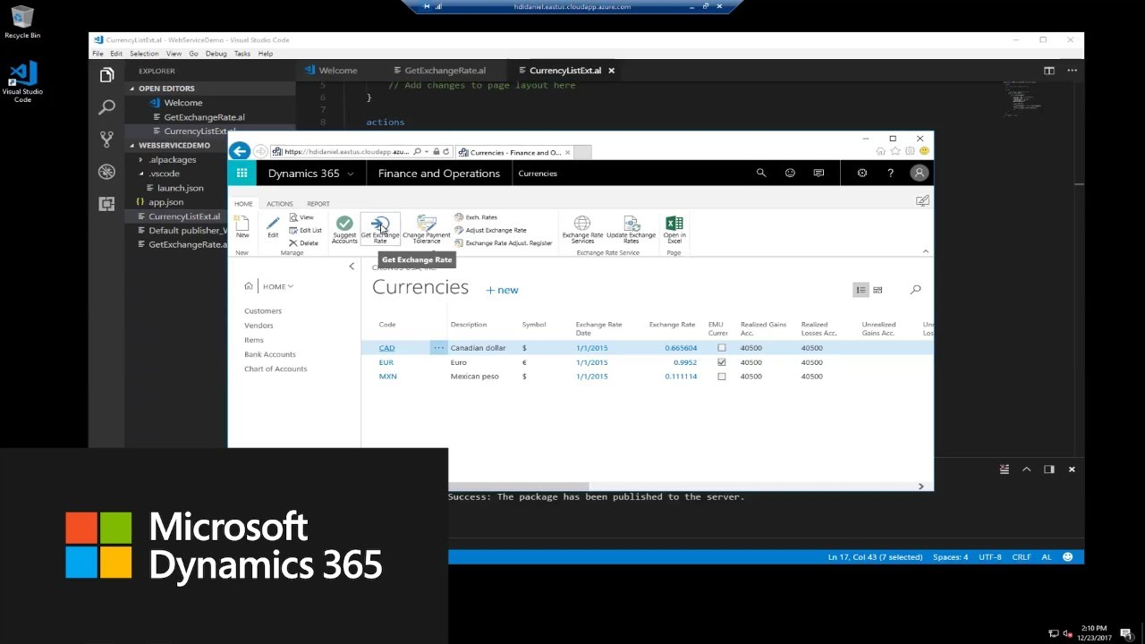 How do I connect to web services in an extension? | Dynamics 365 Business  Central Apps