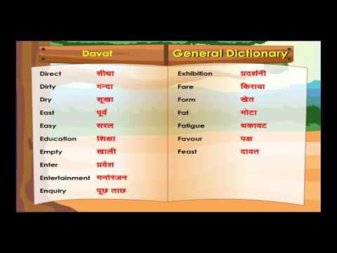 General dictionary || Learn Hindi Through English for kids || Spoken Hindi Basic for kids