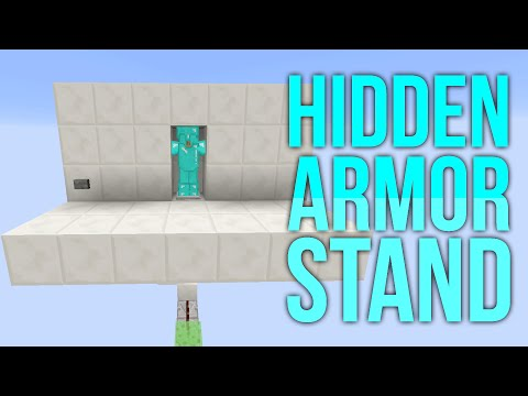 Minecraft 1.8 Redstone Tutorial - Hidden Armor Stand