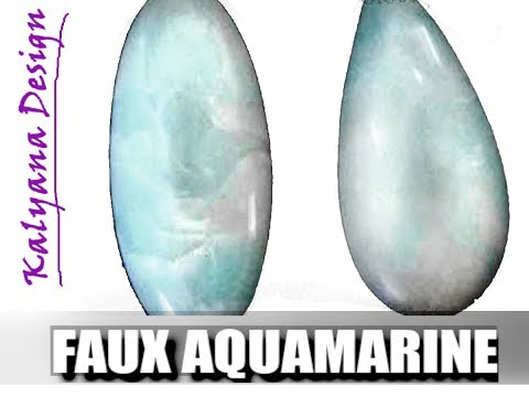 048-Polymer clay tutorial - faux aquamarine - gemstone imitation techniques series