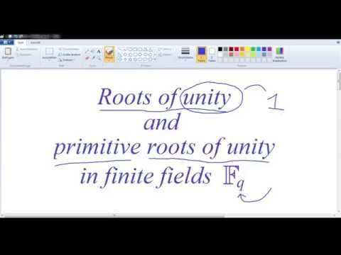 Roots of unity in finite fields 1: Primitive roots of unity