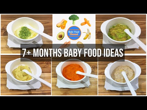 7 Months Baby Food Ideas – 5 Healthy Homemade Baby Food Recipes