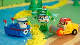 Мультфильмы для детей с игрушками - Лесное чудище. Смотреть мультик про полицейскую машину.