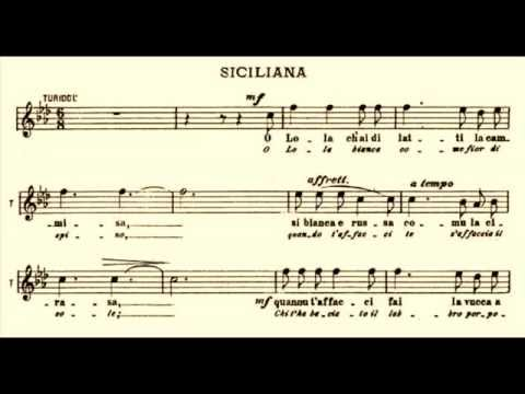Enrico Caruso - O Lola (Siciliana from Cavalleria Rusticana) 1904